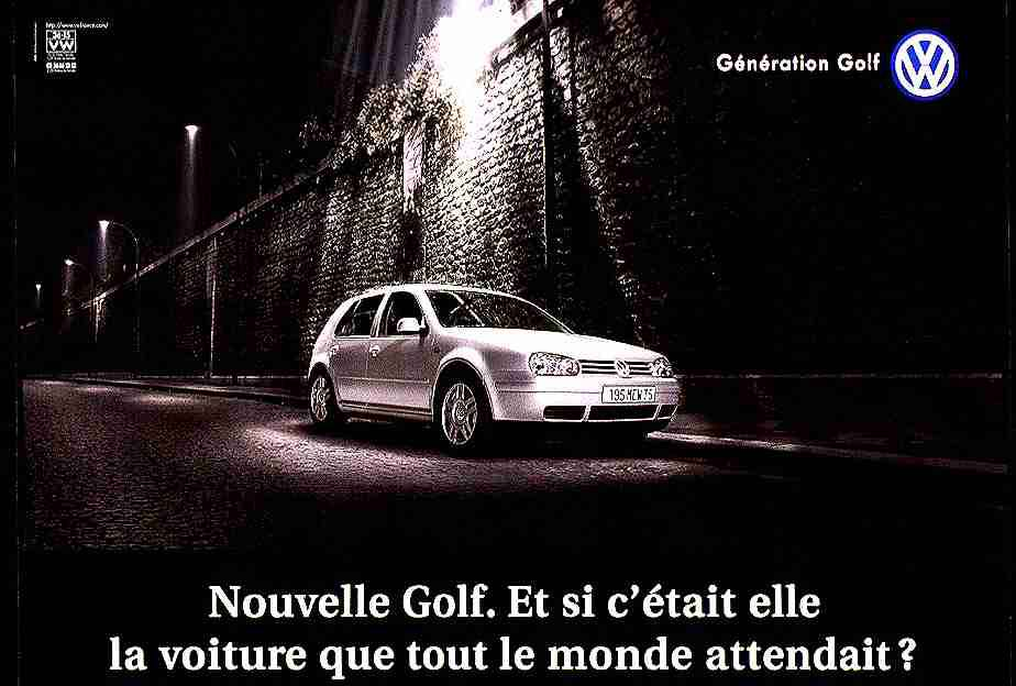 groupe volkswagen france vw golf 4 banquet the car gloria adeevee. Black Bedroom Furniture Sets. Home Design Ideas