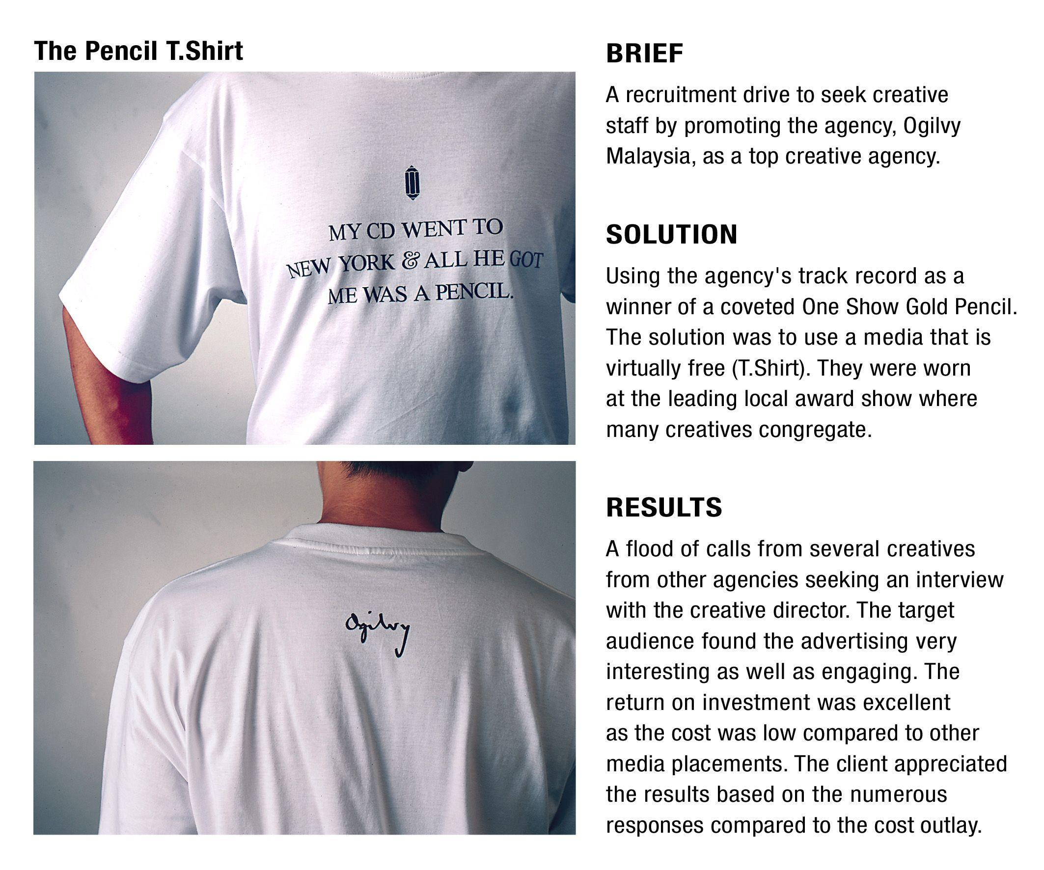 ogilvy mather malaysia advertising agency pencil t shirt - Ogilvy Mather Ad Agency