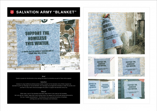 Salvation Army Fundraising For The Homeless: Blanket 1