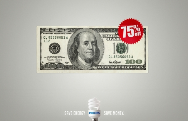 Phillips Energy Saver Light Bulbs Dollar Euro Peso