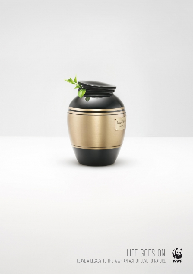 Wwf Italia Campaign For Post Mortem Legacies: Cinerary Urn 1