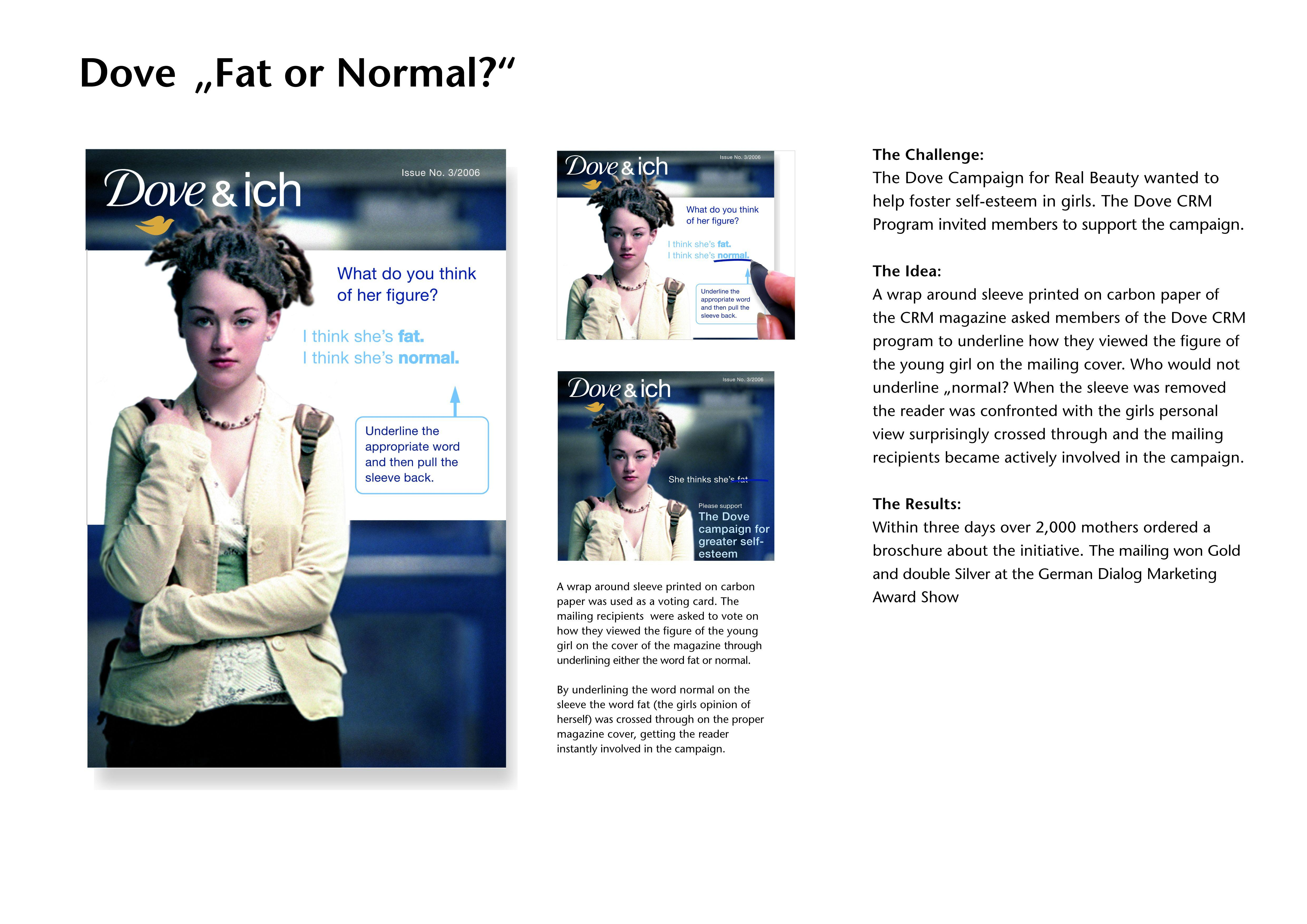 unilever dove self esteem campaign fat or normal adeevee