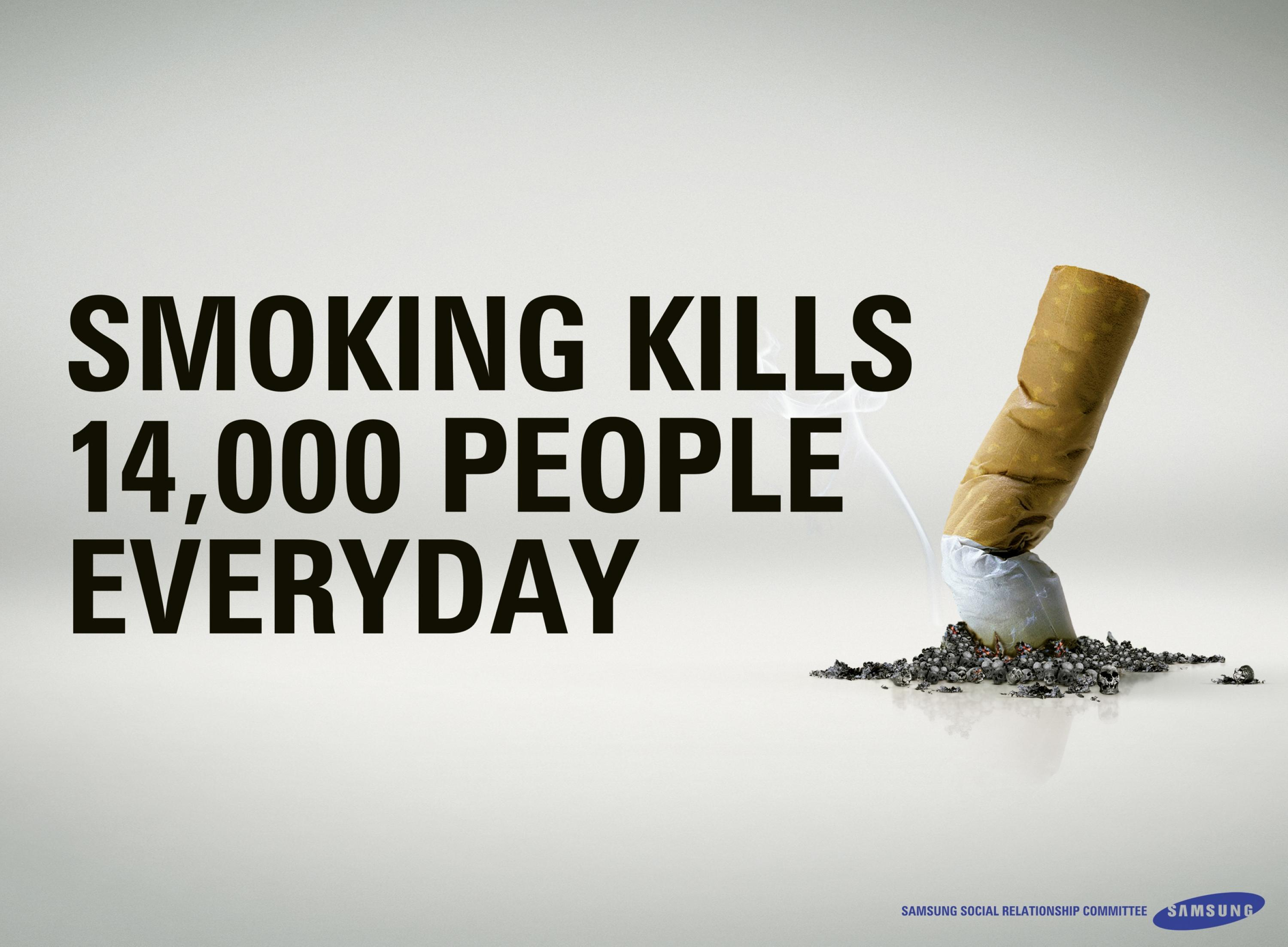 Anti Smoking Quotes Samsung Social Relationship Committee Antismoking Message No