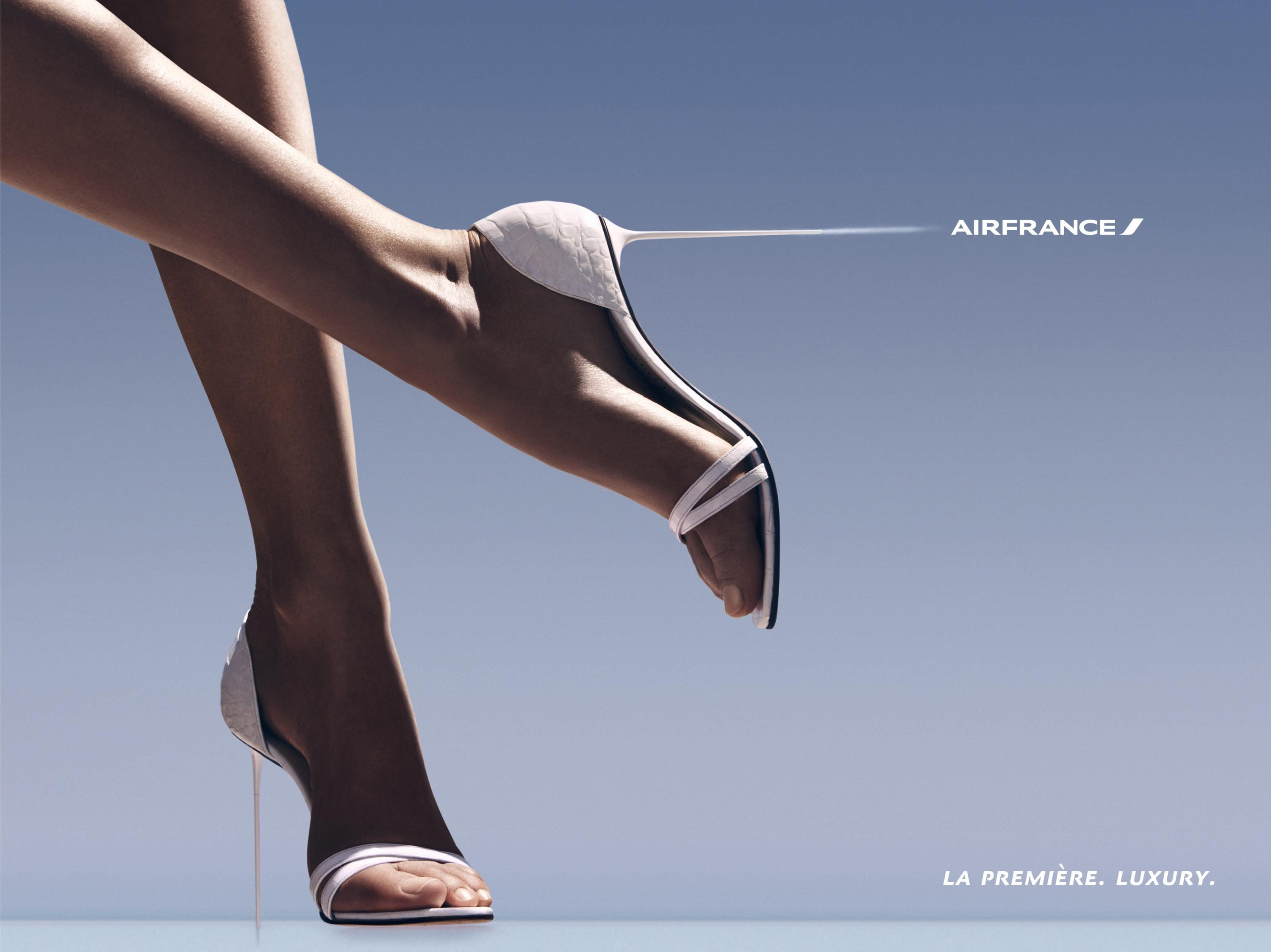 Air France Airline: Corset, Heel, Parasol, Panther - Adeevee