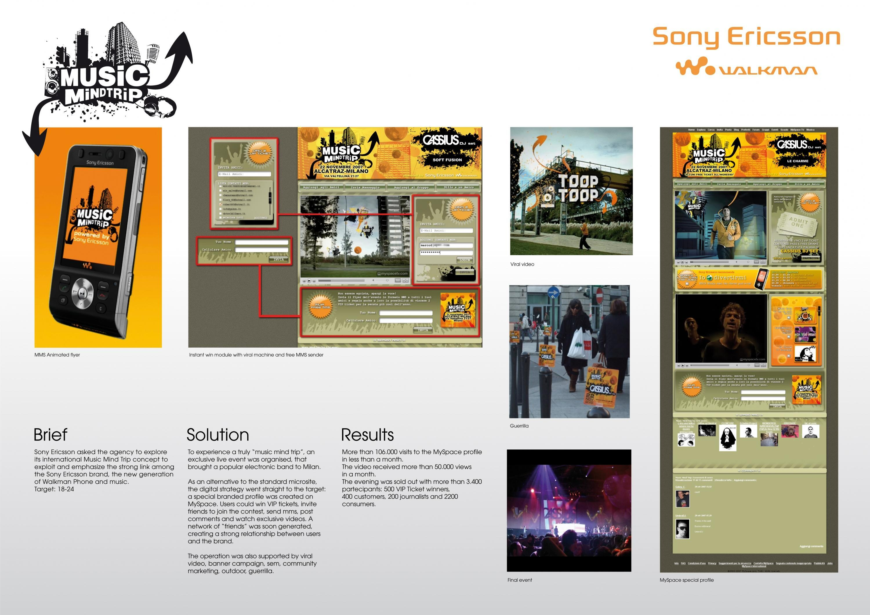 sony ericsson marketing case study Sponsor profile | may 27, 2014 inside sony's experiential marketing strategy consumer electronics giant uses sponsorship to promote sony.