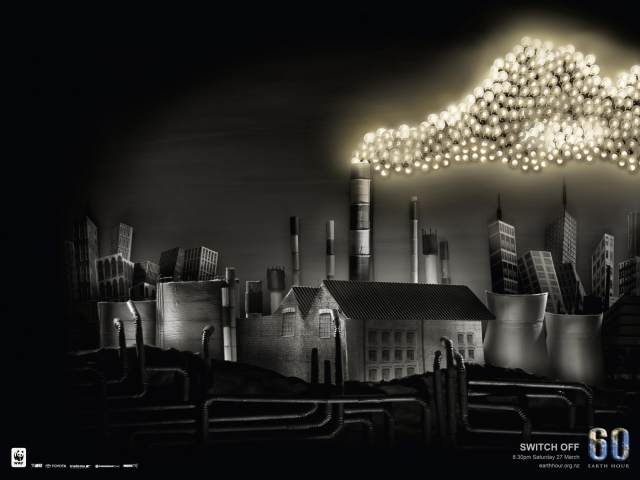 Wwf Earth Hour: Factory, Earth, Footprint 1