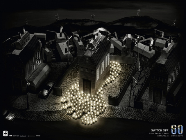 Wwf Earth Hour: Factory, Earth, Footprint 3