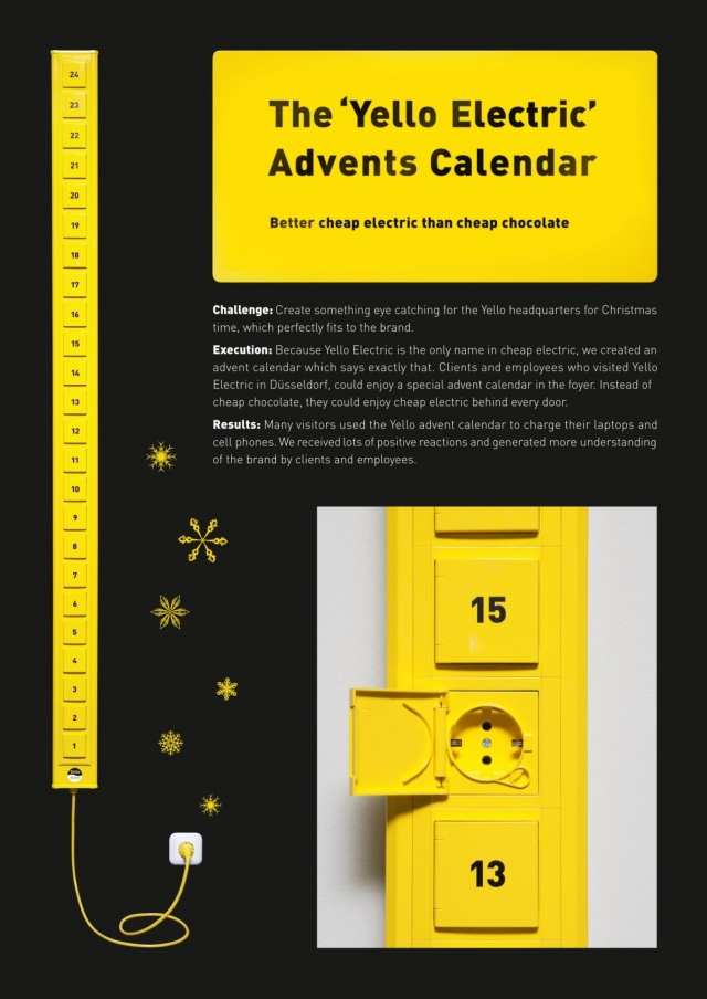 Yello Strom Energy Provider: Yello Advent Calendar 1