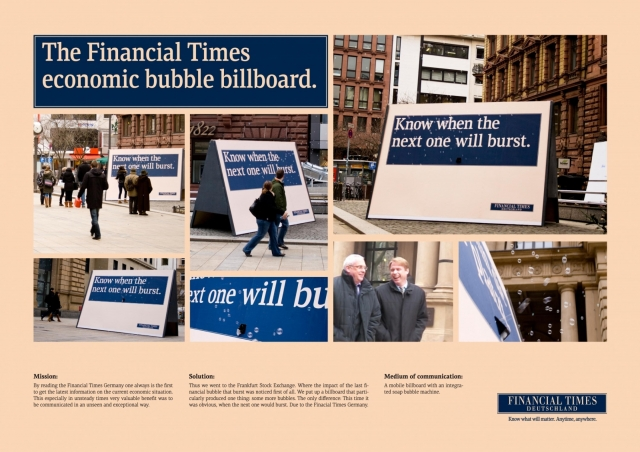Financial Times / G + J Wirtschaftsmedien Financial Times Newspaper: Ftd Bubble 1
