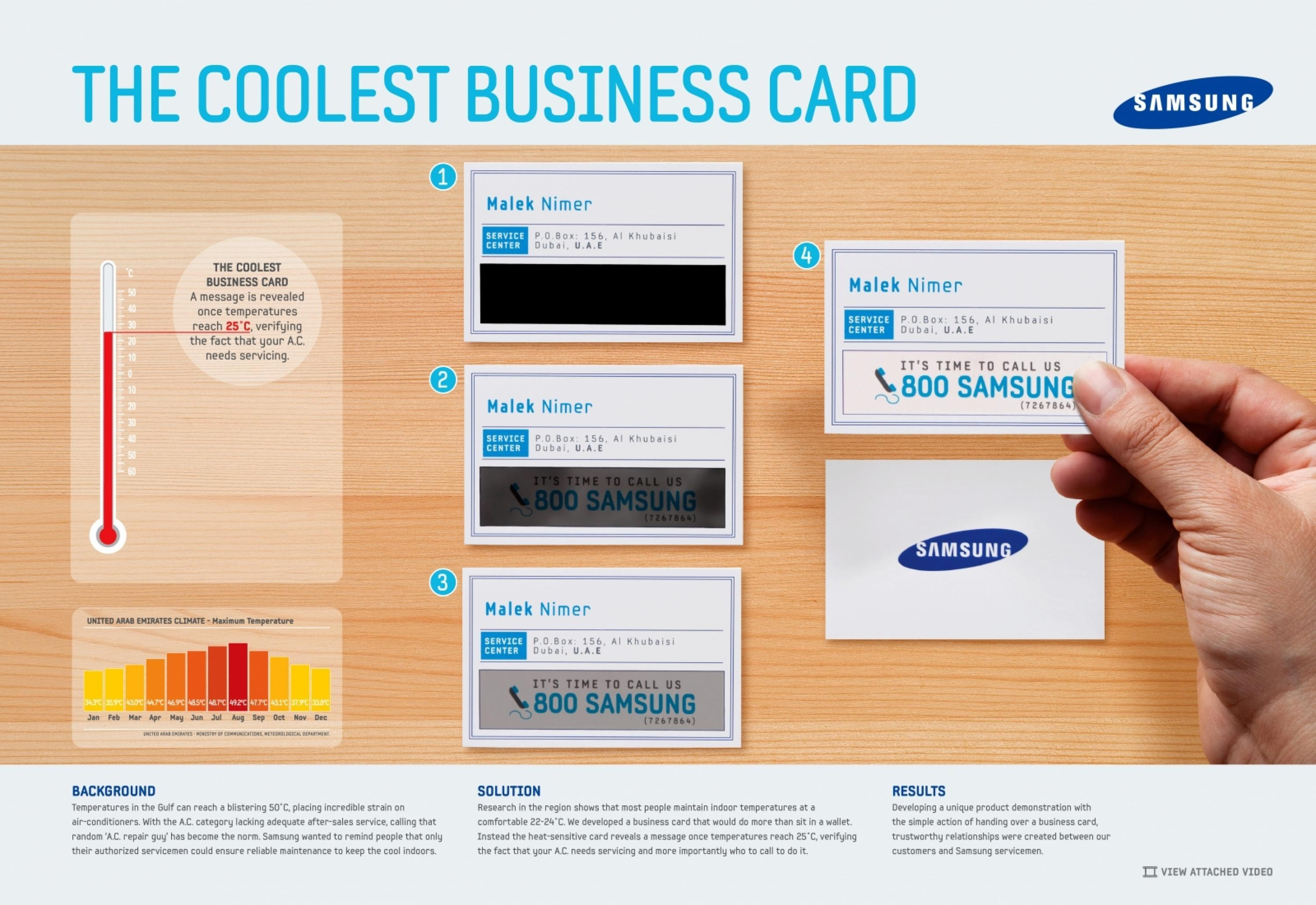 Samsung Air-Conditioning: The Coolest Business Card - Adeevee