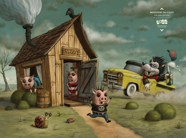third person point of view the three little pigs referring to the wolf