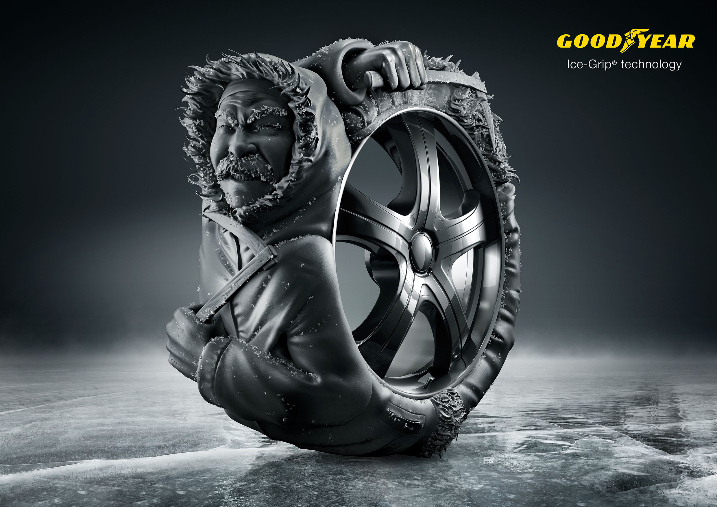 Goodyear swimmer eskimo fakir adeevee for Creative jobs berlin