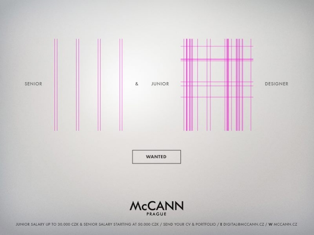 McCann Prague: Designer Wanted 3