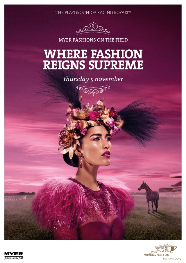 155th Melbourne Cup Carnival 2015: Fashion, Knights, Princess, Day of Days 1