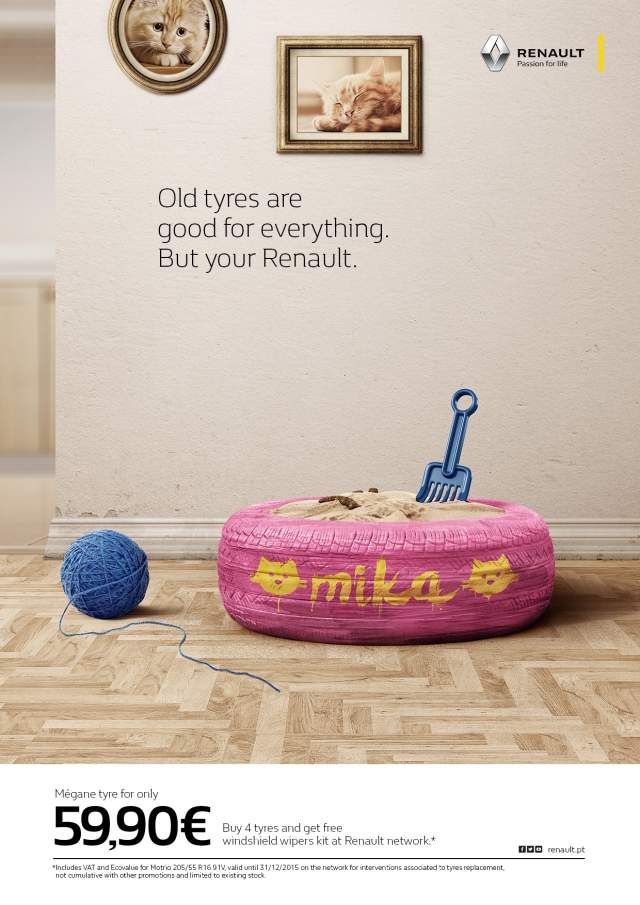 Renault: Old tyres 2