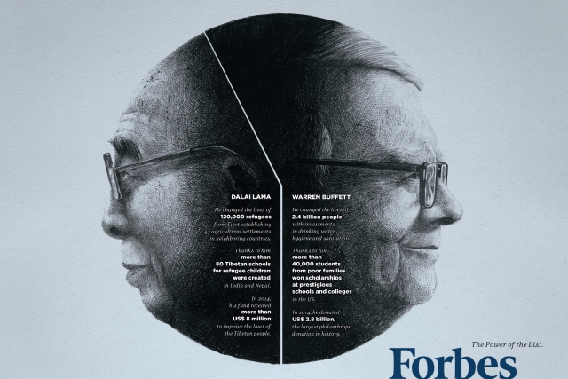 Forbes: Dalai Lama-Warren Buffet, Mother Teresa-Bill Gates, Kofi Annan-Richard Branson 1