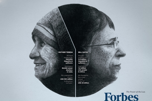Forbes: Dalai Lama-Warren Buffet, Mother Teresa-Bill Gates, Kofi Annan-Richard Branson 2