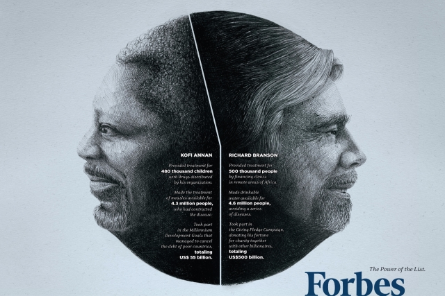 Forbes: Dalai Lama-Warren Buffet, Mother Teresa-Bill Gates, Kofi Annan-Richard Branson 3