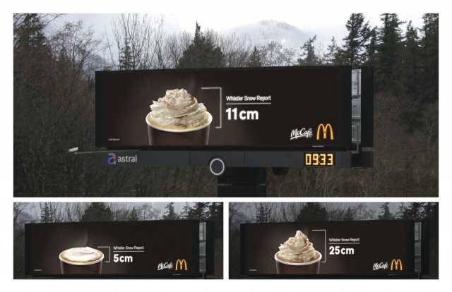 McDonald's Canada: McCafé Snow Report Billboard  1