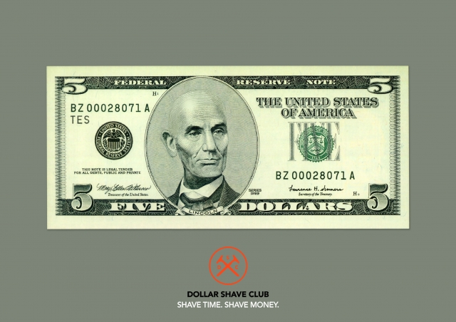 Dollar Shave Club Shaver: Five dollars, Ten dollars, Twenty dollars 1