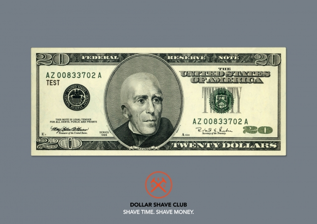Dollar Shave Club Shaver: Five dollars, Ten dollars, Twenty dollars 3