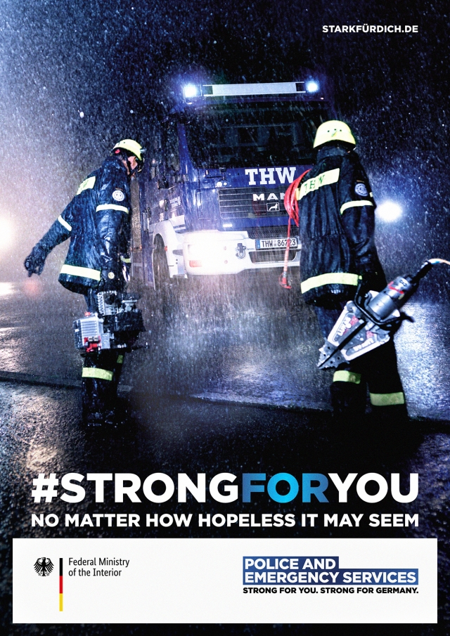 German Federal Ministry of the Interior: THW, Firefighters, Police, 911 2