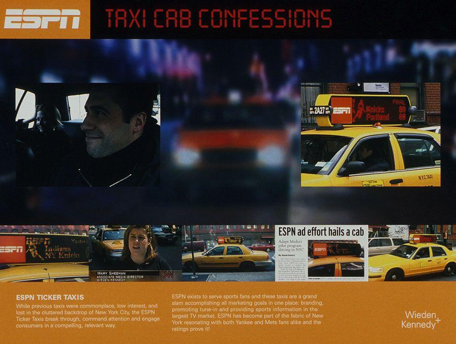 Adeevee Only Selected Creativity Espn Sports Cable Television Network Espn Ticker Taxi