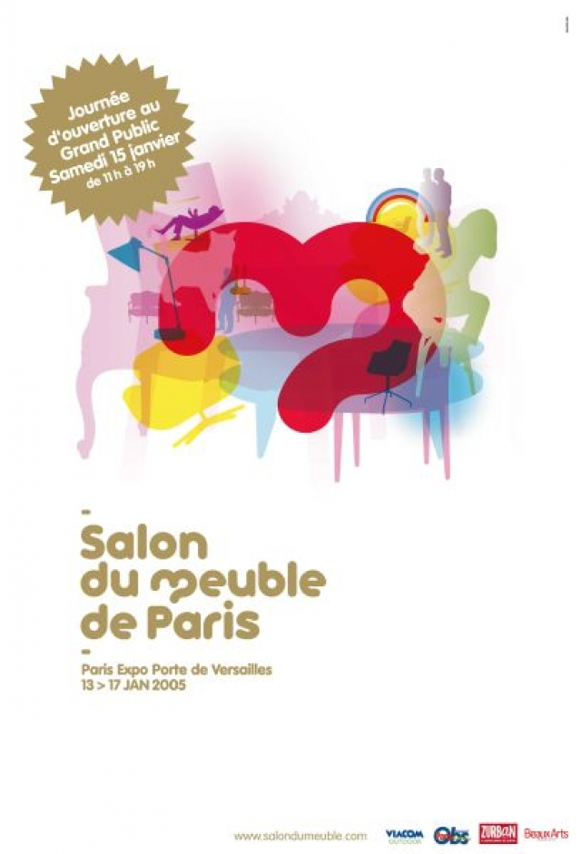 Salon Du Meuble De Paris Cosp Furniture Exhibition Poster For The