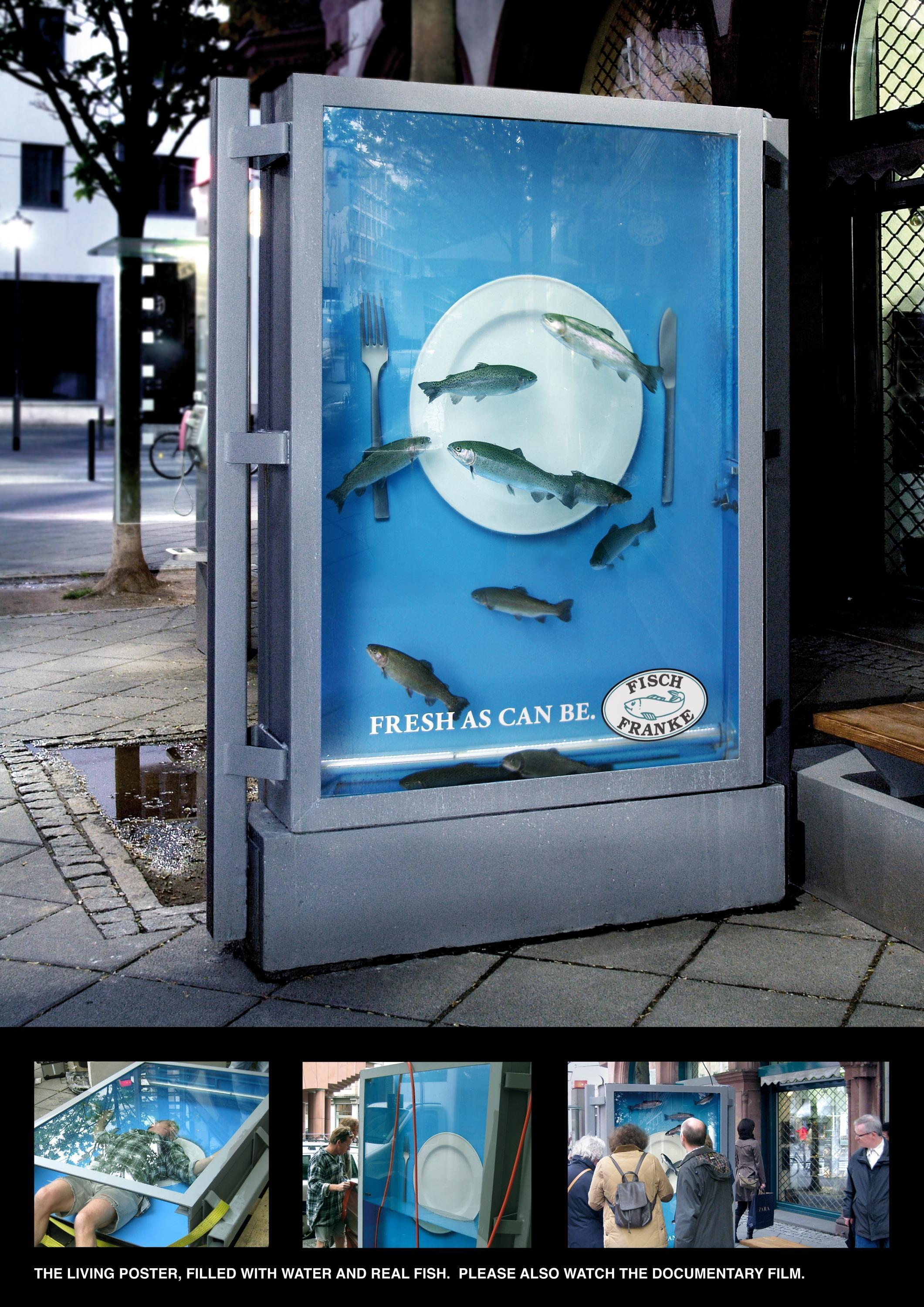 Adeevee Only Selected Creativity Fisch Franke Fish Restaurant The Living Poster