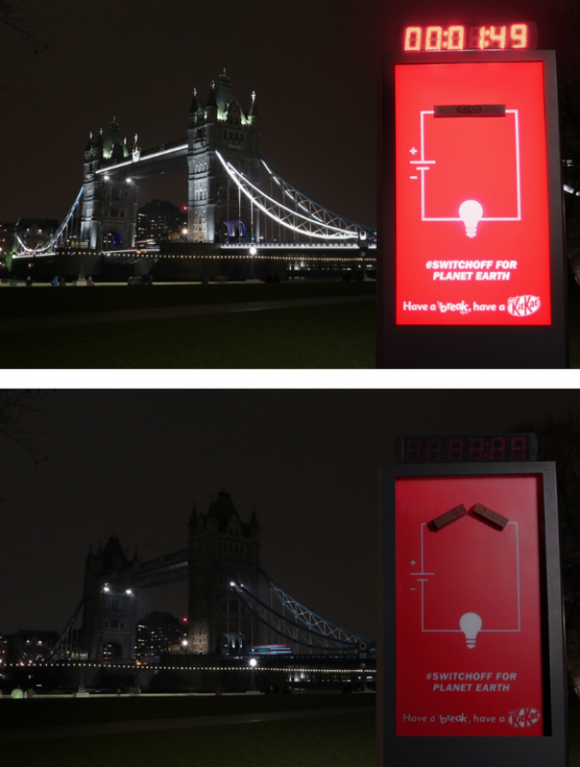 Kit Kat: Billboard That Switches Itself Off 1