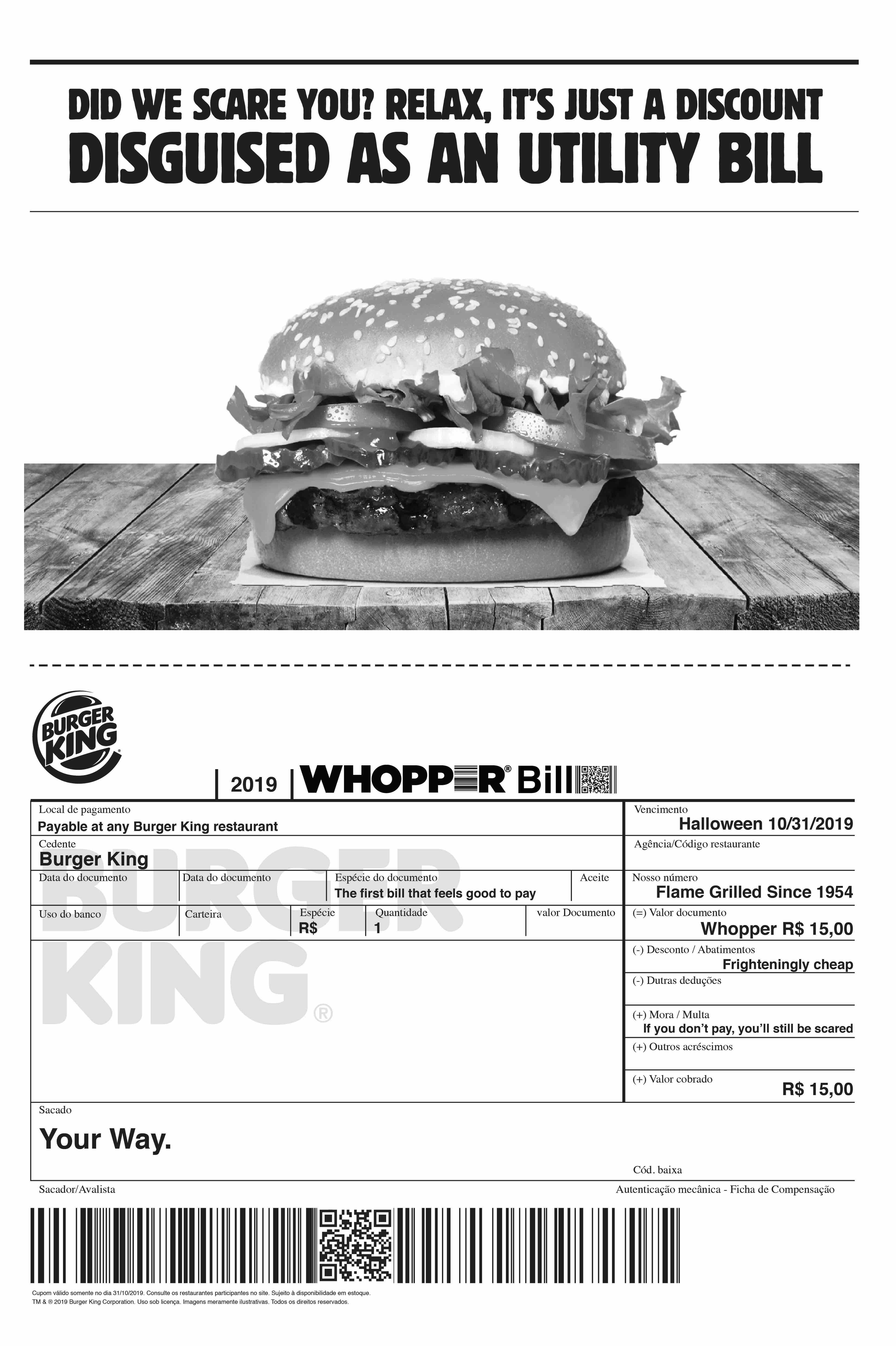 Adeevee Only Selected Creativity Burger King Whopper Bill